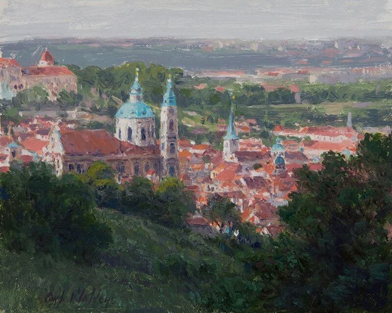 View of Little Quarter Church of St. Nicholas Prague by Curt Walters