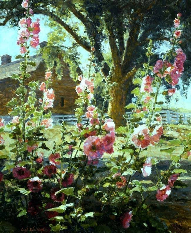 Mom's Hollyhocks