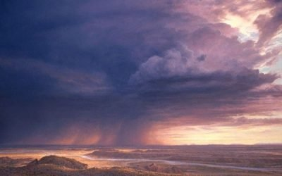 Monsoon Rain for Painted Desert