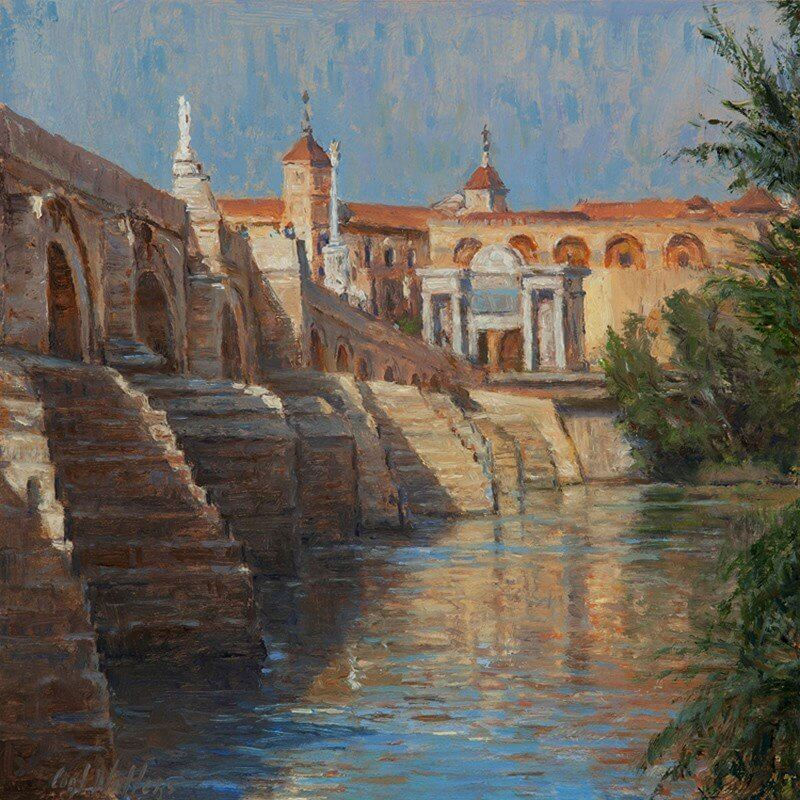images_paintings_nedrashow_spain_roman bridge in cordoba