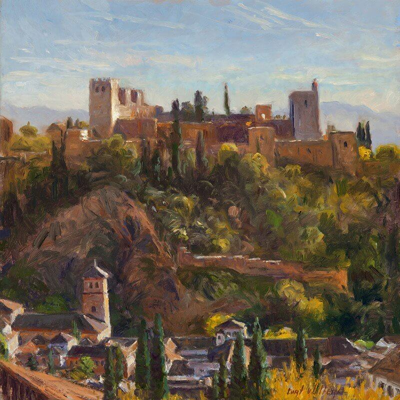 images_paintings_nedrashow_spain_the alhambra from san nicolas 12x12 web version