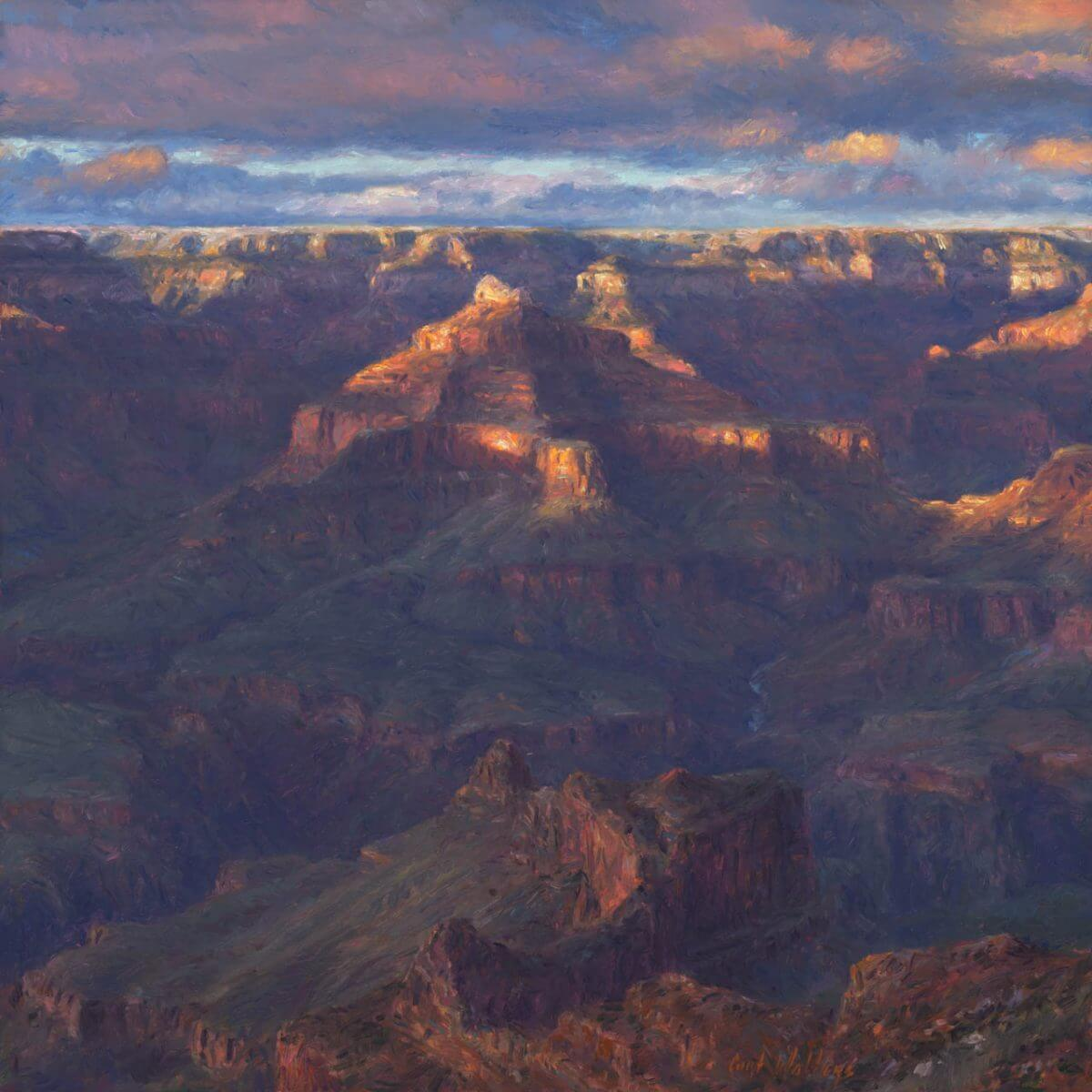 Far Away 14x14 print by Master Grand Canyon Artist Curt Walters