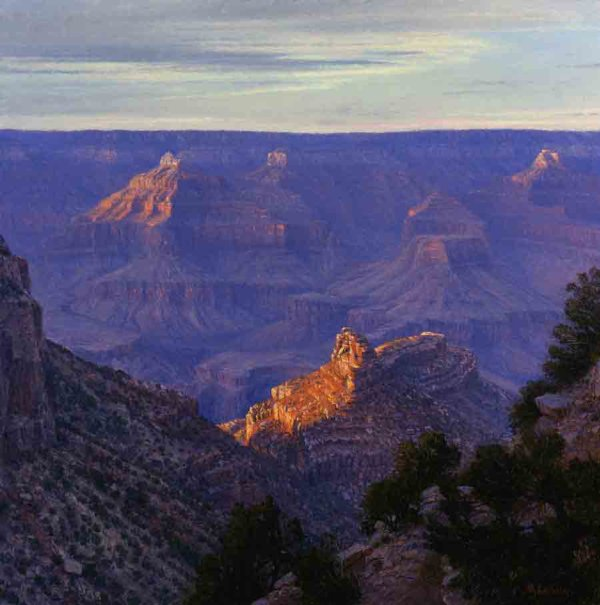 Sunset at Bright Angel Trail