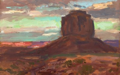 August Evening and Merrick Butte – Monument Valley